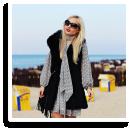 boho dress & fur vest