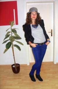 Grauer Vintage Hut | Royal Blue! | Style my Fashion