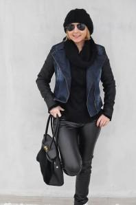 Jeans mit Lederärmeln | rock'n'roll | Style my Fashion