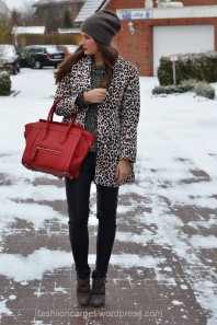 Mantel | Red Leopard | Style my Fashion