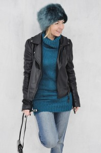 kunstfellmuetze | blau | Style my Fashion