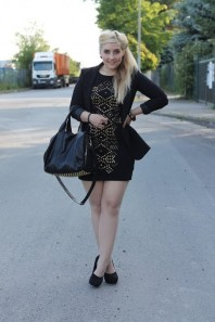 pumps | Studded dress. | Style my Fashion