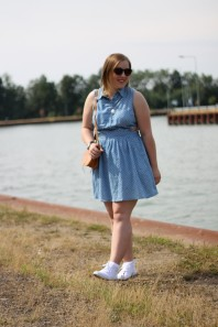 Cut Out Kleid mit Polka Dots | Waters | Style my Fashion