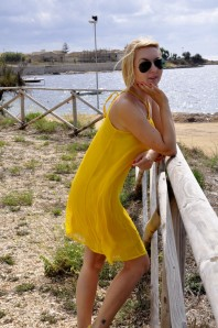 sonnenbrille | yellow dress | Style my Fashion