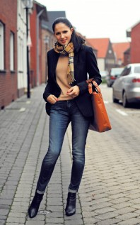 Navyblue blazer   Camel story    Style my Fashion