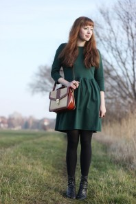 Skater Kleid | Emerald green d... | Style my Fashion