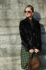 Pilotenbrille weiß | Green Tartan Sk... | Style my Fashion