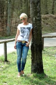 Weißes T-Shirt kombinieren: 'ZARA Hasen-T-Shirt' (Damen, Shirt, weiß, Bilder) | Style my Fashion