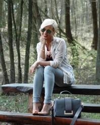 Hellgrau/beige/rosefarbene klassische Bluse kombinieren: 'Birds Bluse von Primark' (Damen, Bluse, grau, braun, rosa, gelb, Bilder) | Style my Fashion