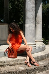 Oranges klassisches Kleid kombinieren: 'Orange Silk Dress' (Damen, Kleid, orange, Bilder) | Style my Fashion