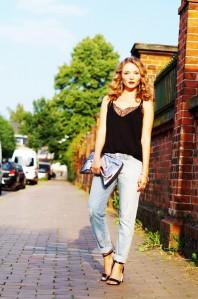 Hellblaue Loose-Jeans kombinieren: 'boyfriend jeans' (Damen, Jeans, blau, Bilder) | Style my Fashion