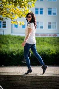 Weißes T-Shirt kombinieren: 'Chiffon Top' (Damen, Shirt, weiß, Bilder) | Style my Fashion
