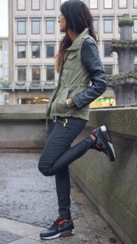 Jacke mit Lederärmeln | Sportlich Chic  | Style my Fashion