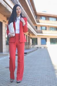 Rotes Kostüm kombinieren: 'Roter Anzug ' (Damen, Hosenanzug / Kostüm, rot, Bilder) | Style my Fashion