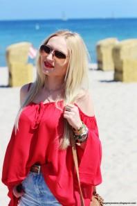 Rote klassische Bluse kombinieren: 'Red boho blouse' (Damen, Bluse, rot, Bilder) | Style my Fashion