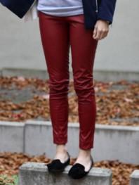 rostfarbene Leder-Legging   Puppy Dog   Style my Fashion