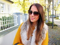 Fake Fur H&M Scarf | Brown Leather &... | Style my Fashion