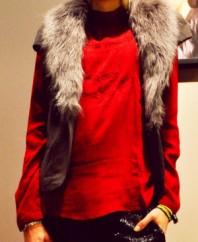 rote Langarmbluse | Fell und Glitze... | Style my Fashion