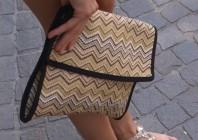 Schwarz/beige/braun/helloliv/weiße Handtasche kombinieren: 'Bast Clutch' (Damen, Tasche, schwarz, braun, gelb, grün, weiß, Bilder) | Style my Fashion