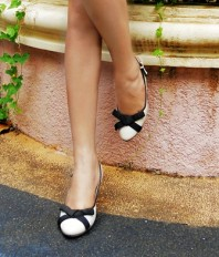 schwarz-weiße High Heels | Earth - herbstl... | Style my Fashion