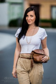 Chinos and cropped top