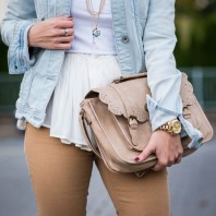 Camel jeans and whites