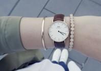 Goldene Uhr kombinieren: 'Daniel Wellington' (Damen, Uhr, braun, gelb, Bilder) | Style my Fashion