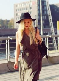 Olives klassisches Kleid kombinieren: 'Vest Dress' (Damen, Kleid, grün, Bilder) | Style my Fashion