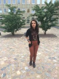Braune Slimfit-Jeans kombinieren: 'Rostfarbene treggings' (Damen, Jeans, braun, Bilder) | Style my Fashion