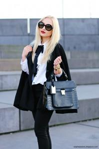 Schwarzer Kurzmantel kombinieren: 'Black Cape' (Damen, Mantel, schwarz, Bilder) | Style my Fashion