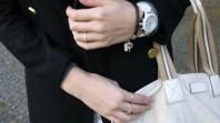 weiße Ceramic-Uhr | shorts in winte... | Style my Fashion