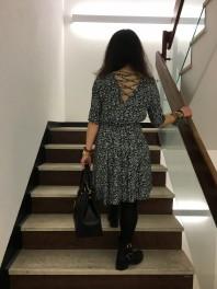 Blumiges Jerseykleid