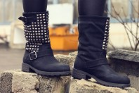 Biker Boots  | material mix | Style my Fashion