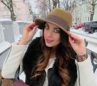 brauner Hut   Leo Vs. Burgund...   Style my Fashion