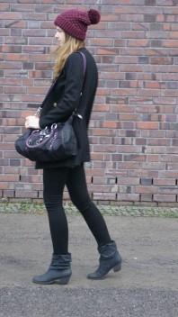 burgundy beanie | burgundy on top | Style my Fashion