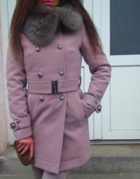 Mantel mit Fell | trench coat | Style my Fashion