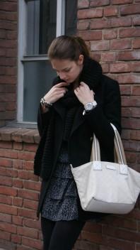 Helle, große Tasche | animalier dress | Style my Fashion