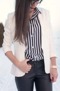 Weißer Blazer | simply black an... | Style my Fashion