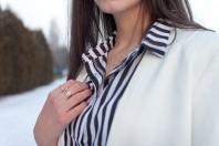 striped blouse | simply black an... | Style my Fashion