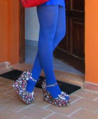 bluemchen gefaerbte Sandalen | lets go shoppin... | Style my Fashion