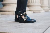 Schwarze Cut-Out Boots