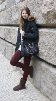Große Tasche zum Umhängen oder mit Henkeln | burgundy leo | Style my Fashion