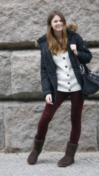 Leo Leggings | burgundy leo | Style my Fashion
