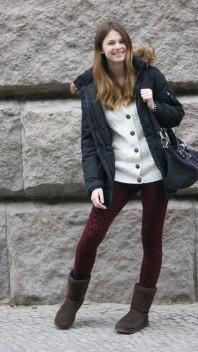 Leo Leggings | burgundy leo | Style my Fashion