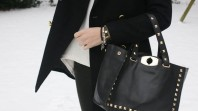 schwarze Tasche mit Nieten | playing in the... | Style my Fashion