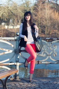 rote Jeans | red lady | Style my Fashion