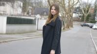 Blauer Mantel mit kleinen Rundnieten | ready to go | Style my Fashion