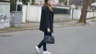 Schwarze Handtasche mit Karomuster | ready to go | Style my Fashion