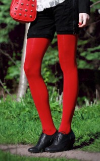 "rote Strumpfhose | von ""Blair Wald... | Style my Fashion"