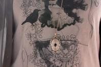 Lange Amulett Kette   Grey School   Style my Fashion